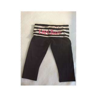 3/4 Gym Tights Leggings Running Bare Size 10