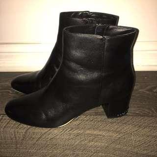 Michael Kors 1.5 Inch Black Boot Heel