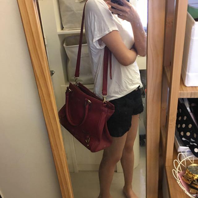 東京企劃紅色肩背包包