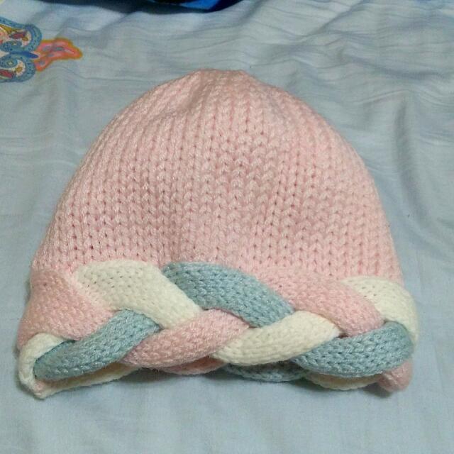 針織扭結毛線帽