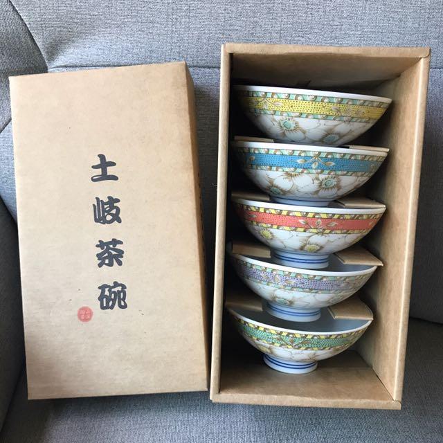 全新 土岐茶碗 日本製品 5個ㄧ組 #局家生活好物