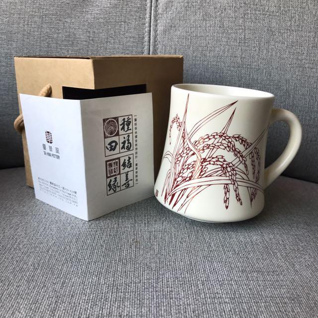 全新 臺華窯製造 陶瓷杯 紅色 #局家生活好物