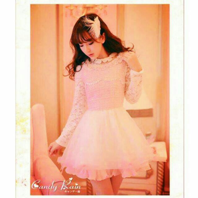 糖果雨 雪紡 蕾絲 夢幻 公主洋裝