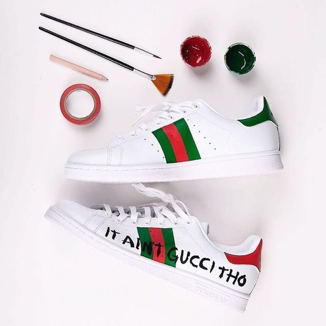 ADIDAS X STAN SMITH X GUCCI SNEAKERS, Men's Fashion, Footwear, Sneakers on Carousell