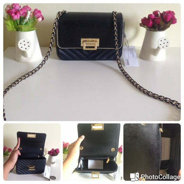 Authentic Charles & Keith Sling Bag Black Size S Only 495!!!