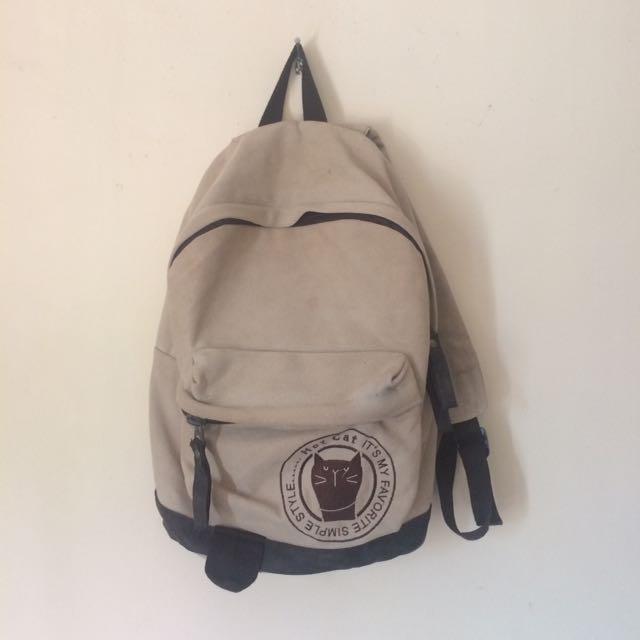 Backpack Hot Cat's Club Premium (cream)