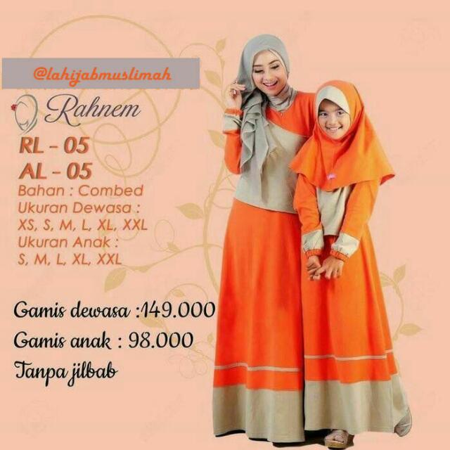 Baju Gamis Sarimbit Ibu Dan Anak Women S Fashion Muslim Fashion On
