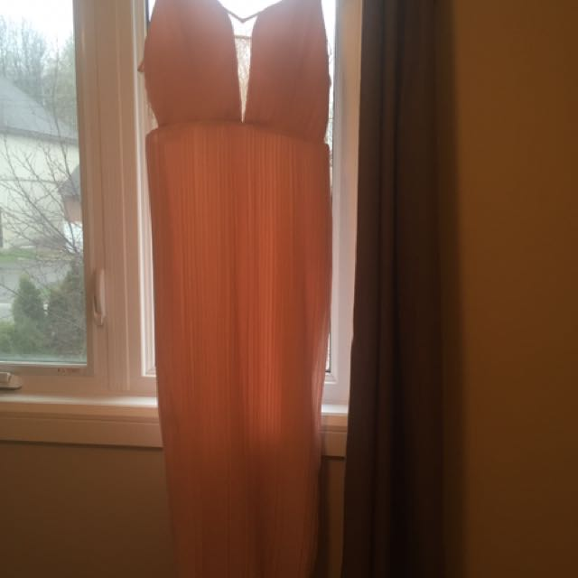 Bcbg Peach Colour Long Deess
