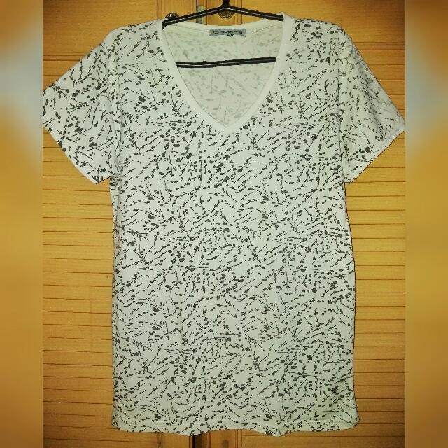 Bizzarre White Printed Shirt