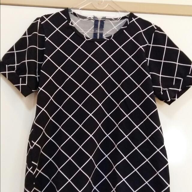 Black Diagonal Shirt