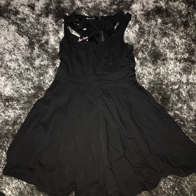 Black Flowy Dress