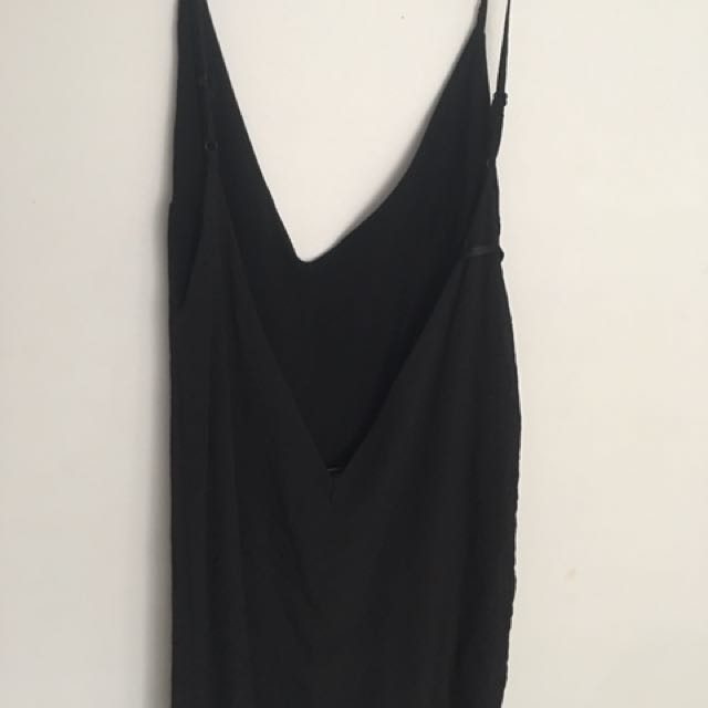 Black Sabo Skirt Playsuit