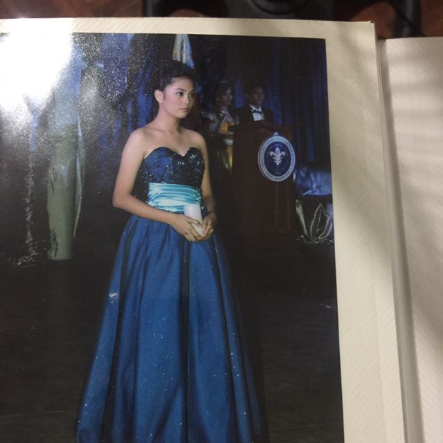 Blue Ball Gown