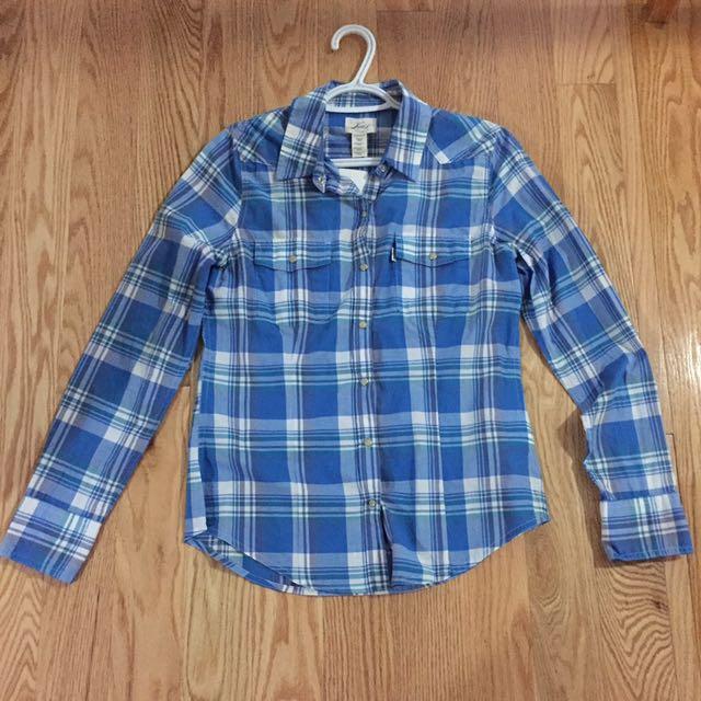 Blue Levis Checkered Shirt