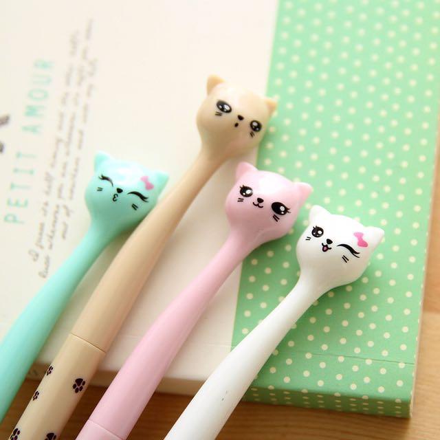 Bow Cat / Pulpen / Alat Tulis / Stationery / Lucu / Unik / Fancy Stuff