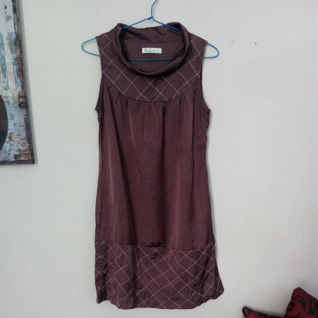 Brown Dress Nyla Turtle Neck