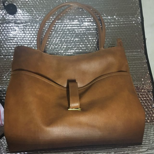 Brown Top Bag Made In Thailand