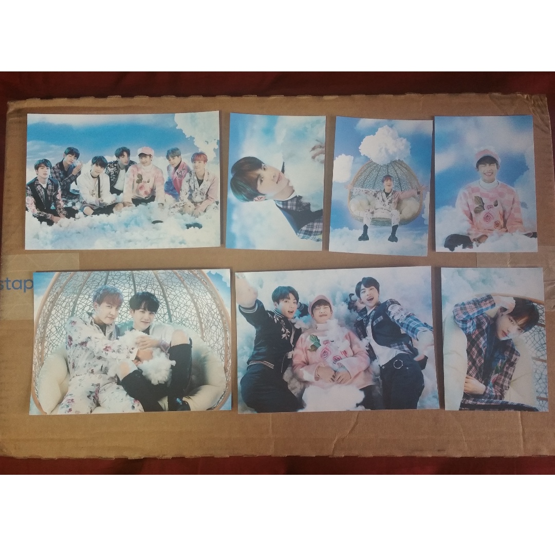 BTS (Wings tour paper frames ver 2 + pcs) + Infinite (pcs + slogan)