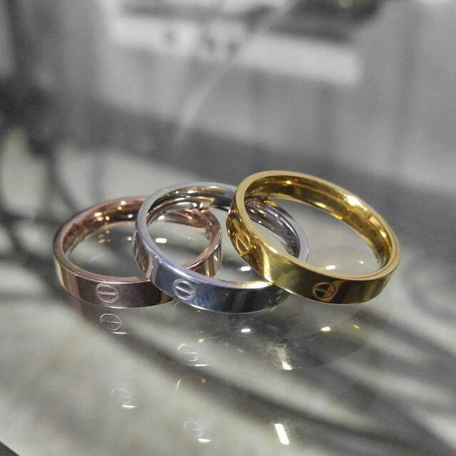 Cartier Stainless Couple Ring