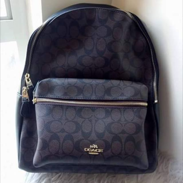 Coach Mini and Large Leather Backpack