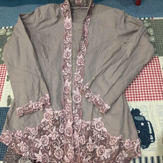 Cotton Grey Kebaya