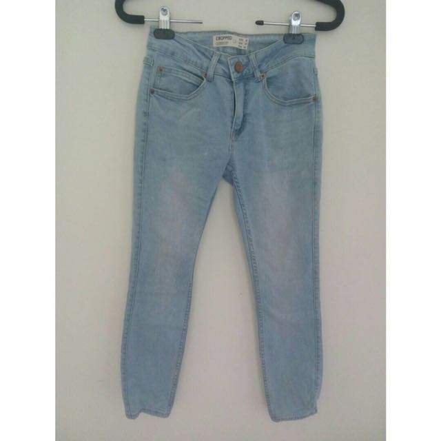 Cotton On Cropped Blue Jeans