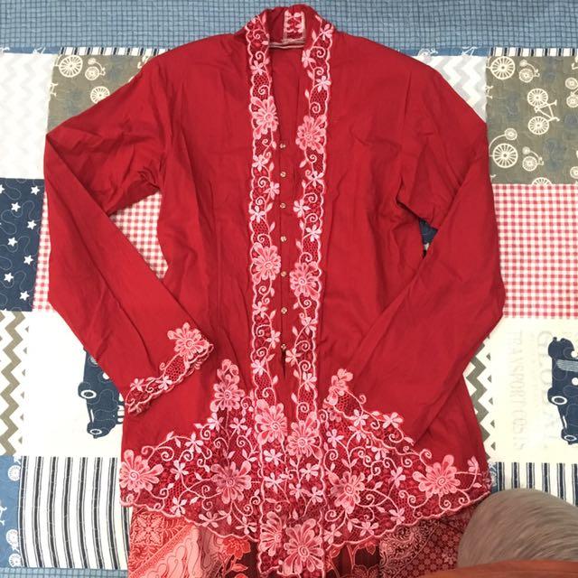 Cotton Red Kebaya - Reserved To Mayamiaa By 7mei