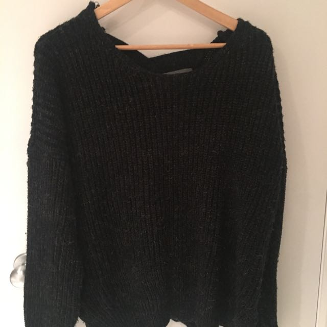 Dark Grey/ Black Sweater