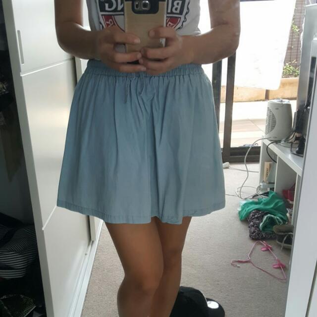 Denim Look Skirt