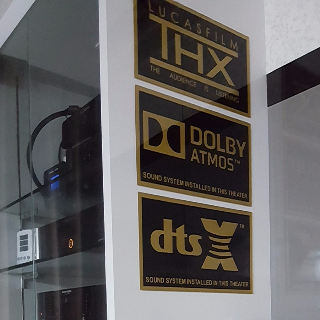 DOLBY ATMOS,DTS:X and THX plaque acrylic