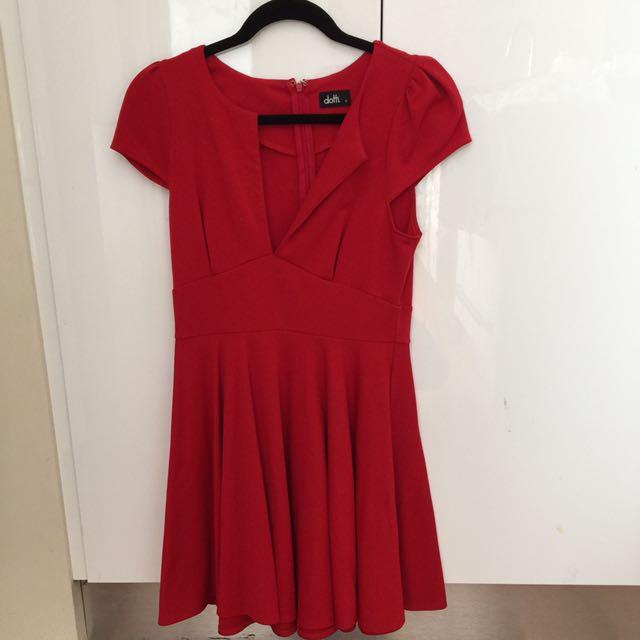 Dotti Red Mini Dress