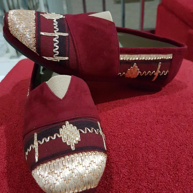 Flat shoes tapis lampung