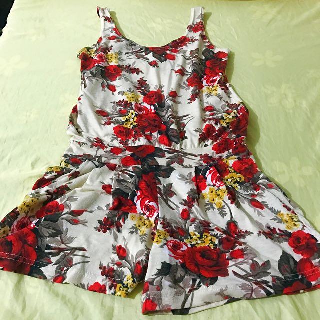Floral Romper Shorts