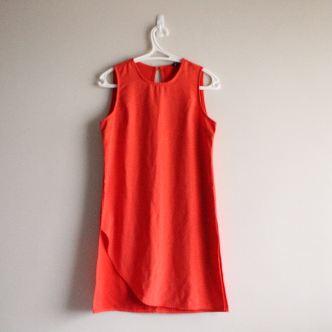 Formal Shirt Dress - Tangerine