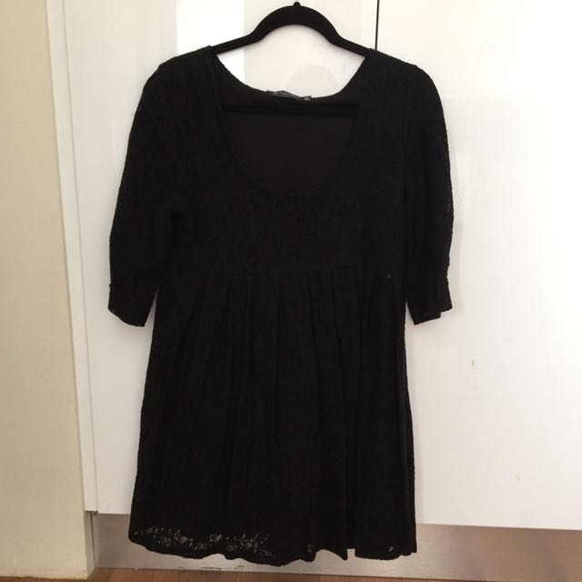 Glassons Black Lace Baby Doll Dress