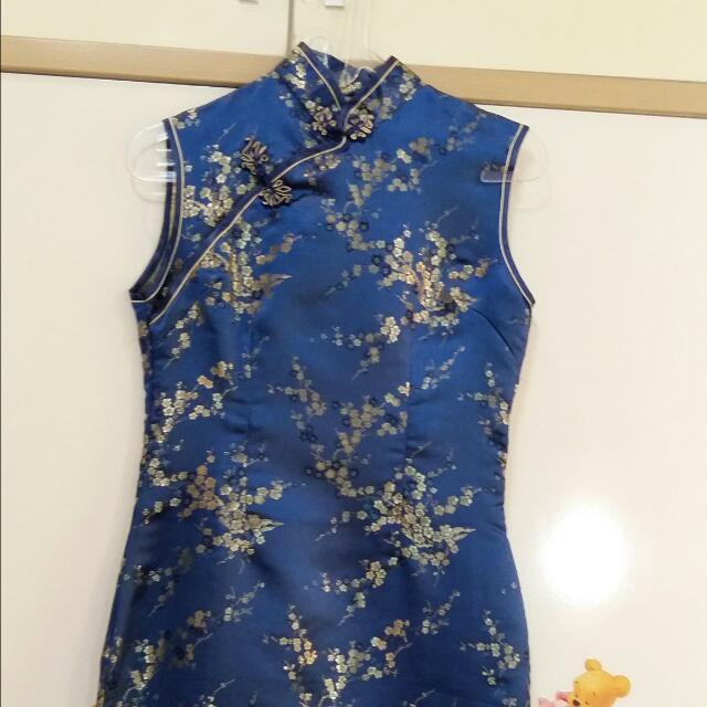 Golden Blue Dress