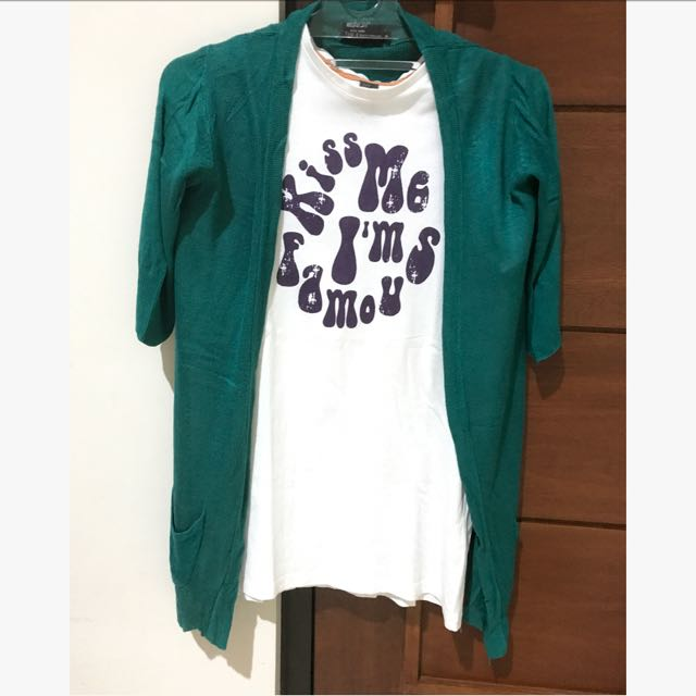 Green Cardigan Size Fit To S