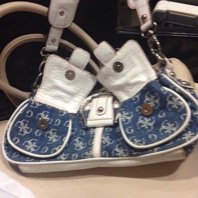 GUESS Original Blue Denim Bag e9887f737c35d
