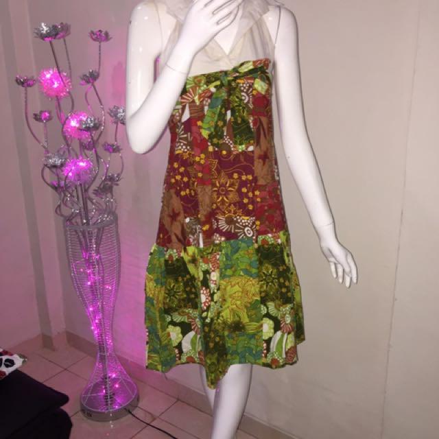 Halter Dress Batik