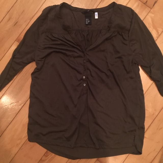 H&M 3 Quarter Sleeve Shirt