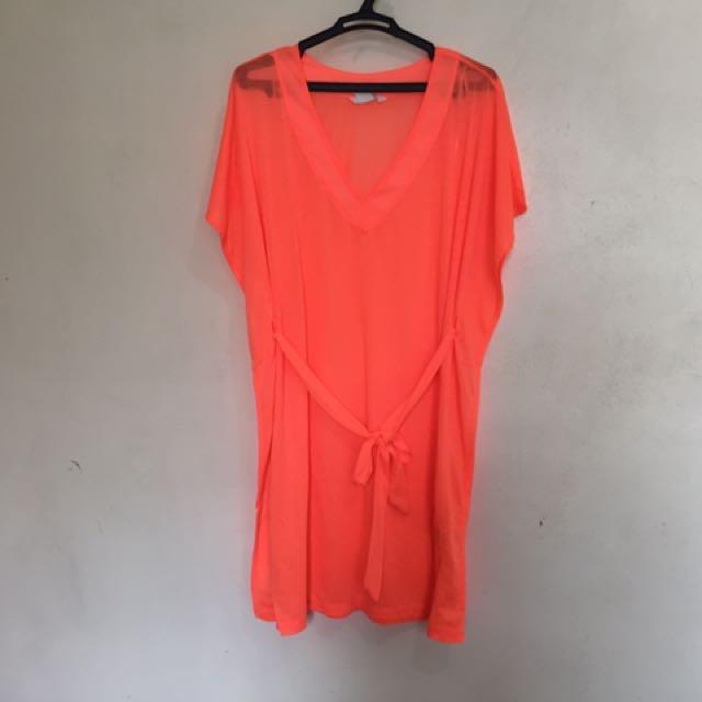 H&M Orange Summer Cover Up (S)