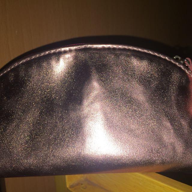 H&M Metallic Pink Pouch
