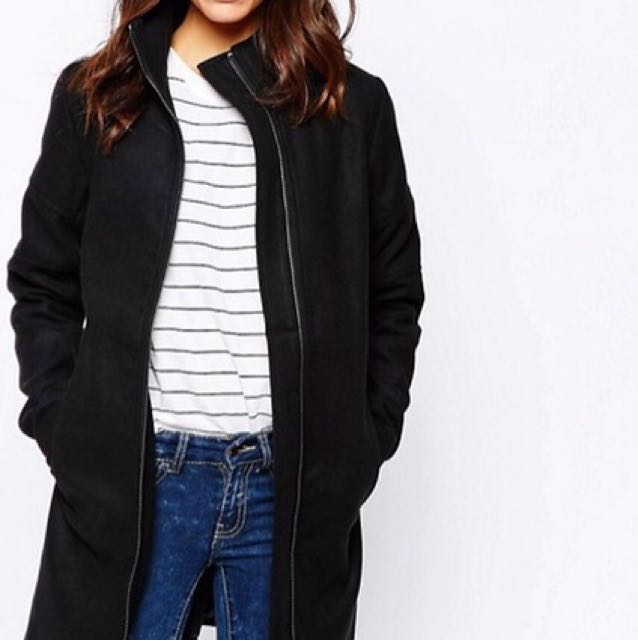 JDY Black Coat