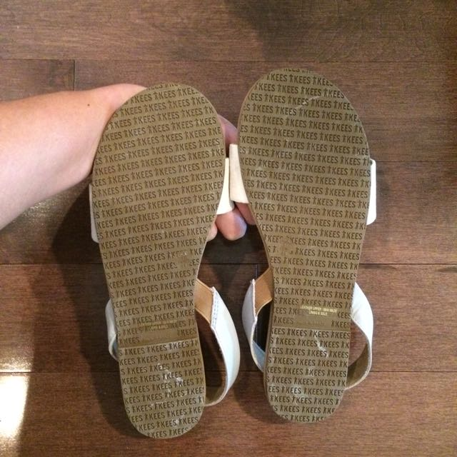 TKEES Nude Suede Sandals