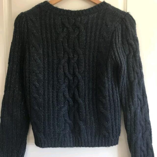 Knit Jumper Portmans XS Dark Blue So Soft
