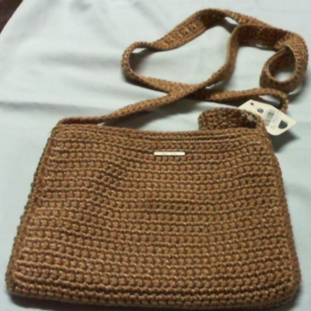 knitted style mini sling bag by The Sak