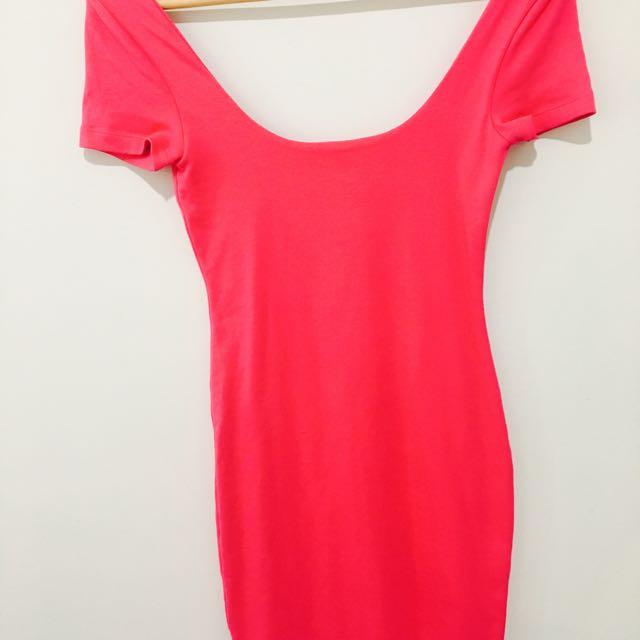 Kookaï Pink Dress Size 1 (6-8)