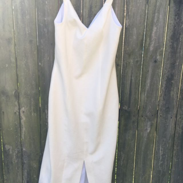 Kookai White Weave Dress Size 38 Which Fits A A Size 10