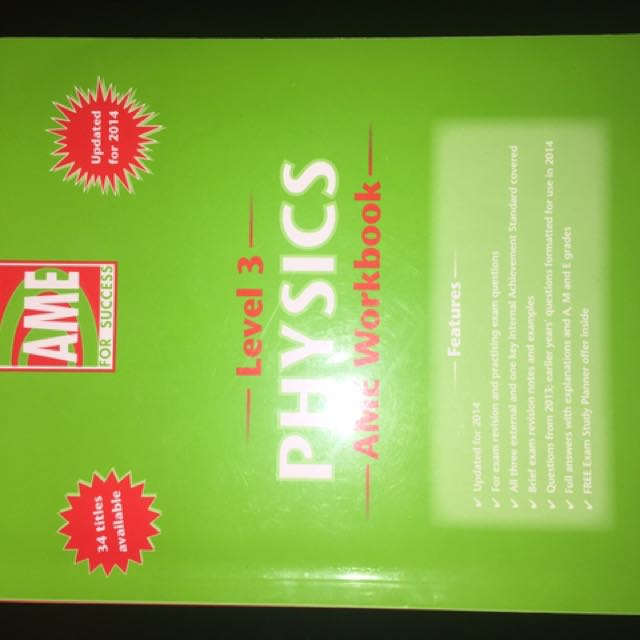 Level 2 And 3 Physics Workbook And Revision Guide