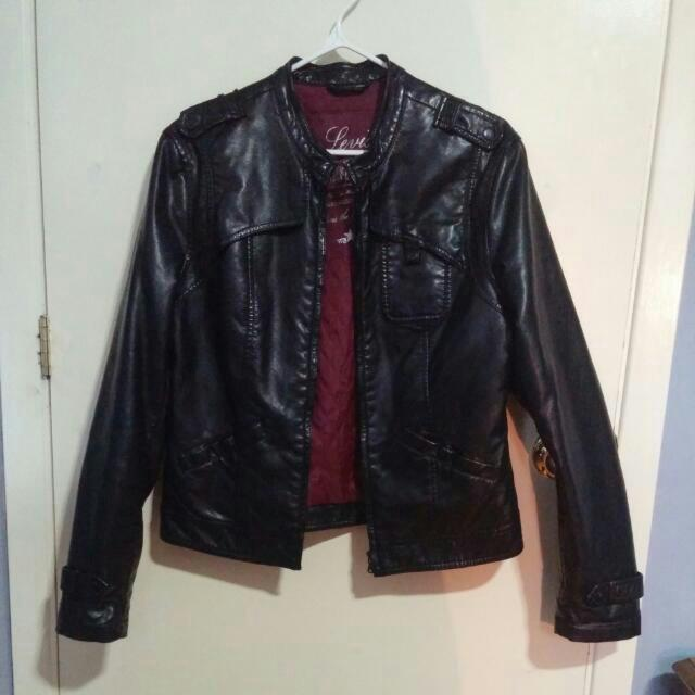 Levi's Faux Leather Bomber Jacket